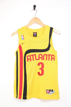 1990s Men's Atlanta Hawks Basketball Vest - Yellow M