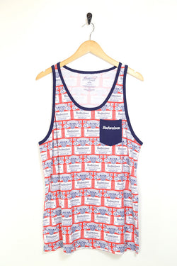 2000s Men's Budweiser Printed Vest - Multi L