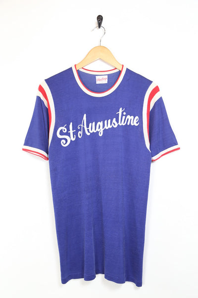 1980s Men's St Augustine T-Shirt - Blue S