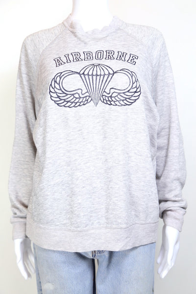 1990s Women's Printed Sweatshirt - Grey M