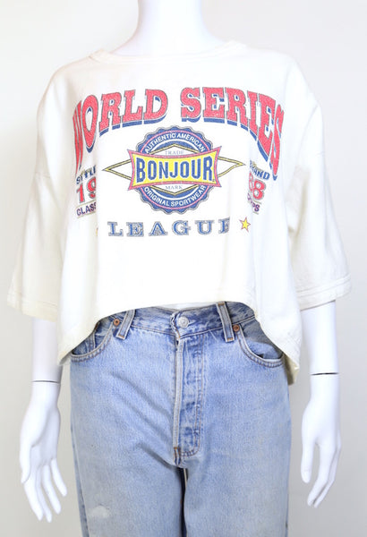 1990s Women's Printed Sweatshirt - White ONE SIZE