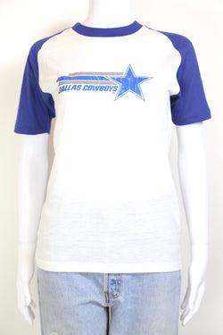 1980s Women's Dallas Cowboys T-Shirt - White XS