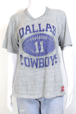 1980s Women's Dallas Cowboys Sports T-Shirt - Grey M