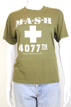 1980s Women's M.A.S.H Printed T-Shirt - Green S