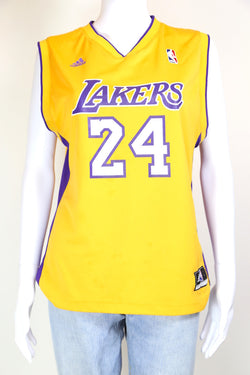 2000s Women's Kobe Bryant LA Lakers Basketball Vest - Yellow L