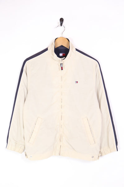 1990s Women's Tommy Hilfiger Jacket - Cream M