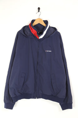 2000s Men's Tommy Hilfiger Jacket - Blue XXL