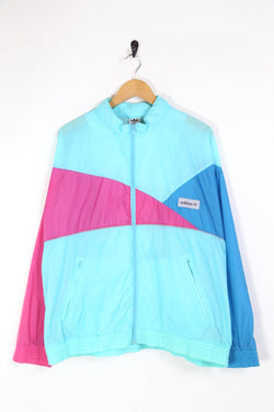 2000s Men's Adidas Windbreaker Jacket - Blue L