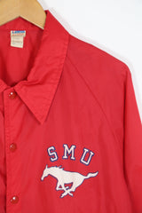 1970s Men's Champion Coach Jacket - Red XL