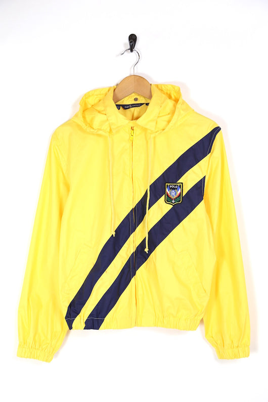 1990s Women's Ralph Lauren Hooded Jacket - Yellow M