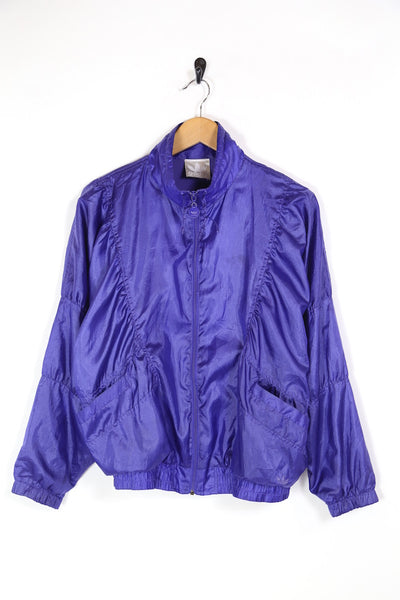 1980s Women's Adidas Windbreaker Jacket - Purple M