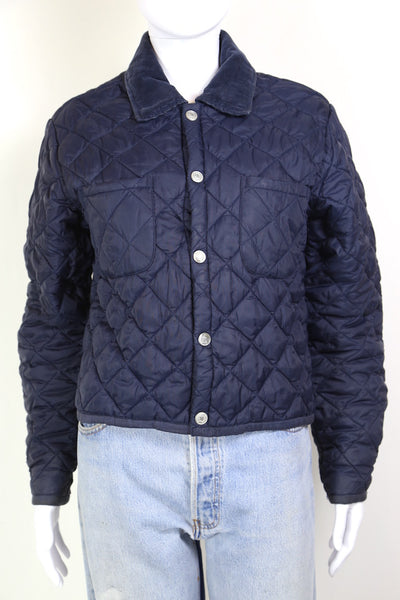 1990s Women's Tommy Hilfiger Quilted Jacket - Blue M
