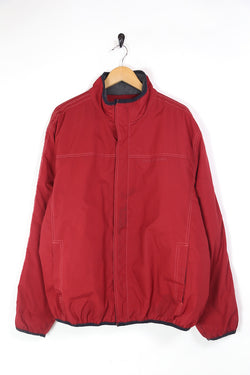 2000s Men's Tommy Hilfiger Badge Jacket - Red XL