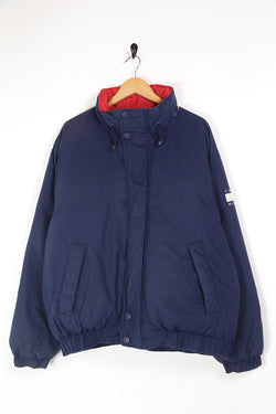 1990s Men's Tommy Hilfiger Badge Jacket - Blue L