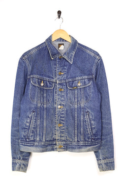 1980s Men's Lee Denim Jacket - Blue