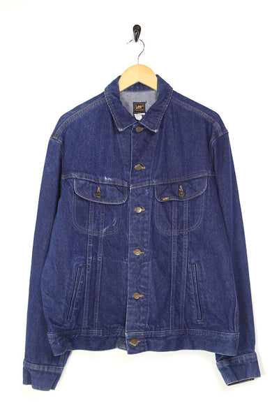 1980s Men's Lee Denim Jacket - Blue L