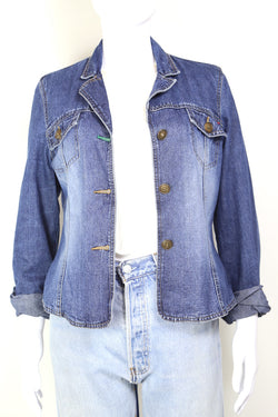 2000s Women's Tommy Hilfiger Denim Jacket - Blue L