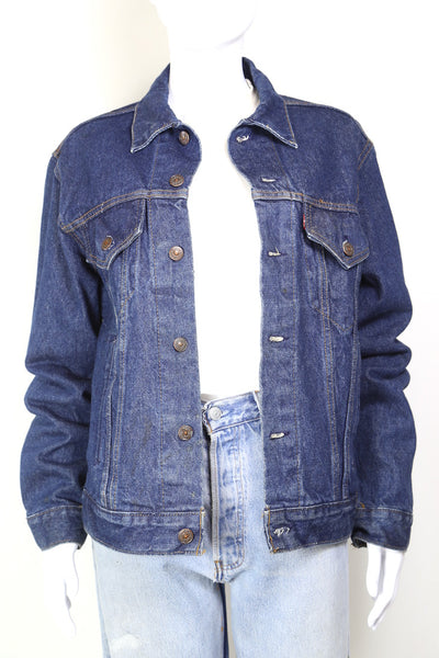 1980s Women's Levi's Denim Jacket - Blue L