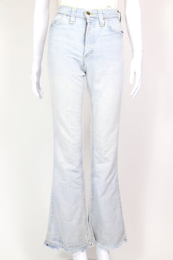 1970s Women's Lee Kick Flare Jeans - Blue 26W
