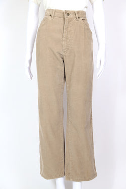 1980s Women's Lee Cord High Rise Trousers - Brown 28W