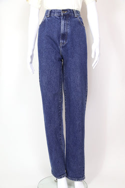 2000s Women's Versace High Waisted Jeans - Blue 32W