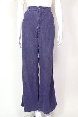 1970s Women's Wide Leg Jeans - Blue 34W