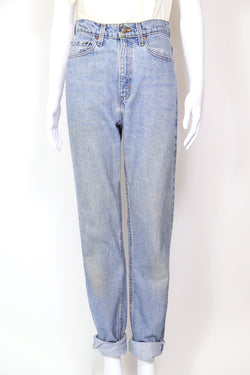 1990s Women's Levi's 521 Tapered Leg Jeans - Blue 28W