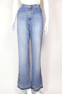 2000s Women's Tommy Hilfiger Flared Jeans - Blue 30W