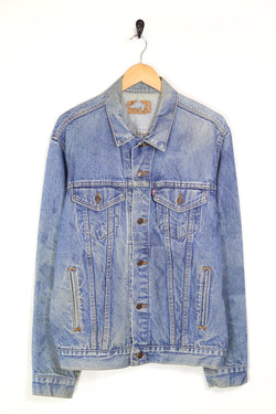 1980s Men's Levi's Denim Trucker Jacket - Blue L