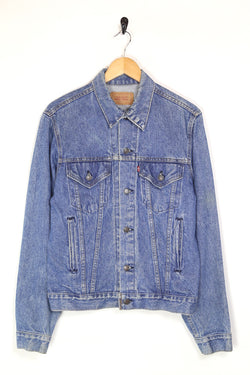 1980s Men's Levi's Denim Trucker Jacket - Blue M
