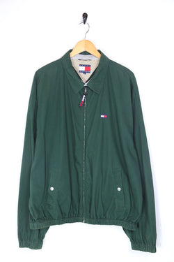 1990s Men's Tommy Hilfiger Harrington Jacket - Green XL