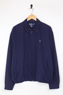 1990s Men's Ralph Lauren Harrington Jacket - Blue L