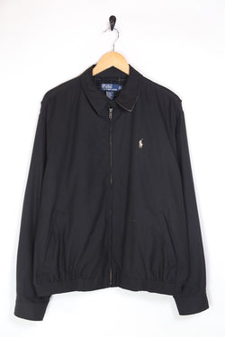 1990s Men's Ralph Lauren Harrington Jacket - Black L