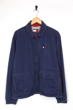 1990s Men's Tommy Hilfiger Zip Through Jacket - Blue L