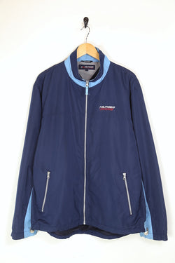 1990s Men's Tommy Hilfiger Badge Jacket - Blue M