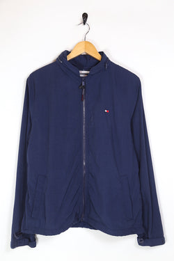 2000s Men's Tommy Hilfiger Badge Jacket - Blue M