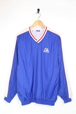 1990s Men's Fila Pullover Jacket - Blue S