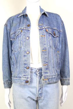 1980s Women's Levi's Orange Tab Denim Jacket - Blue S