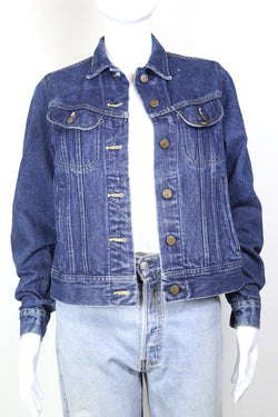 1980s Women's Lee Denim Jacket - Blue S