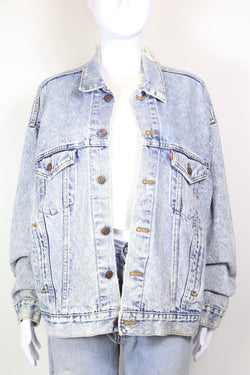1980s Women's Levi's Denim Trucker Jacket - Blue XL