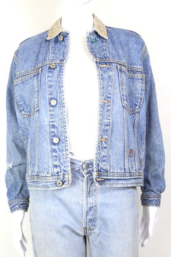 1990s Women's Tommy Hilfiger Denim Jacket - Blue M