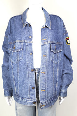 1980s Women's Levi's Denim Trucker Jacket - Blue XXL
