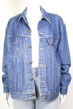 1980s Women's Lee Denim Jacket - Blue L