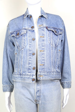 1980s Women's Levi's Denim Trucker Jacket - Blue S