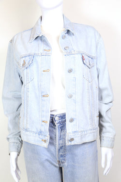 1980s Women's Levi's Denim Trucker Jacket - Blue M