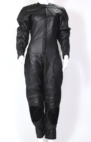 2000s Women's Motorcycle Leather One Piece - Black XS