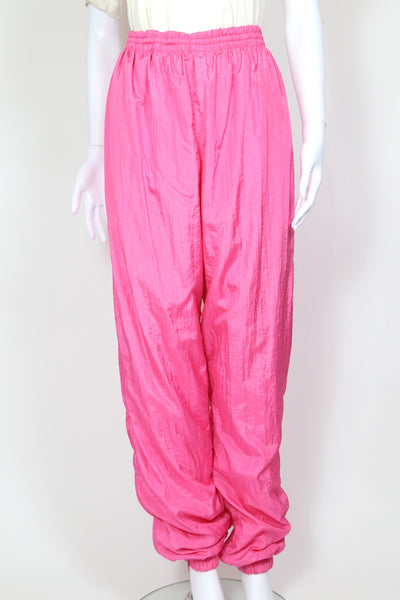 1990s Women's Shell Suit Track Pants - Pink 34W