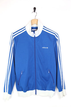 2000s Men's Adidas Track Jacket - Blue M