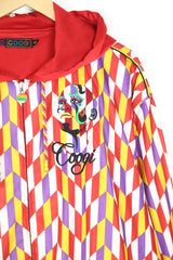 1990s Men's Coogi Zip Through Hoodie - Red XXL