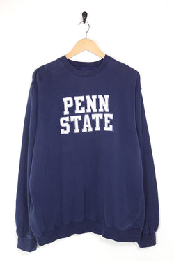 1990s Men's Penn State University Sweatshirt - Blue XL
